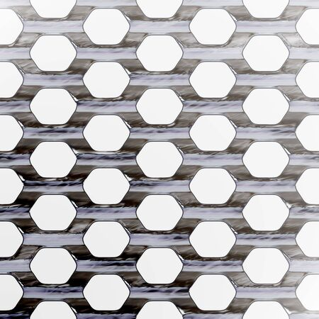 wire mesh: A steel wire mesh background with lighting effect. Stock Photo
