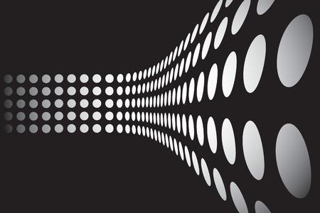 추상 디자인 서식 파일 - 도트 3D 벽을 형성합니다. 이 벡터는 완전히 사용자 지정할 수 있습니다. 일러스트