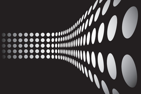 customizable: An abstract design template - dots forming a 3d wall.  This vector is fully customizable.