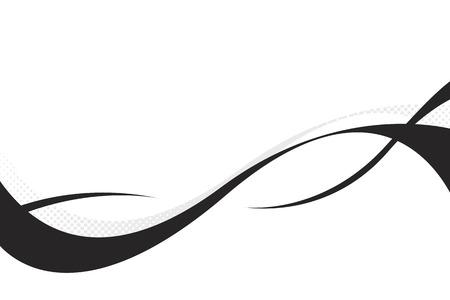 Colorido tridimensional fluye curvas de diseño con abundante del ejemplar espacio. Este vector es completamente personalizable.