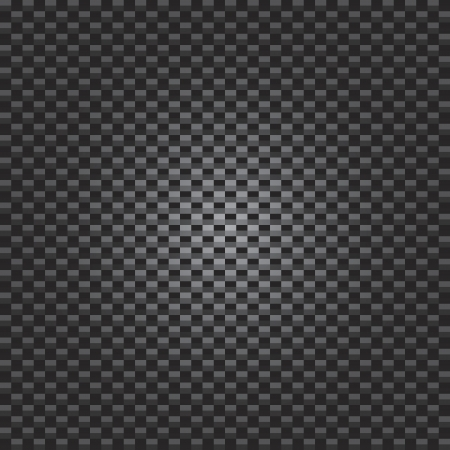 A carbon fiber texture with radial lighting - vector format. Vector