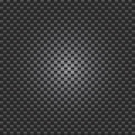 Een koolstofvezel textuur met radiale verlichting - vector-formaat. Vector Illustratie