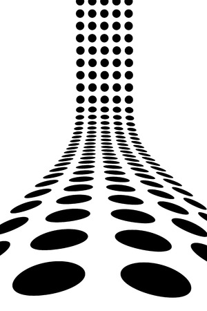 An abstract design template - dots forming a 3d wall.  This vector is fully customizable.