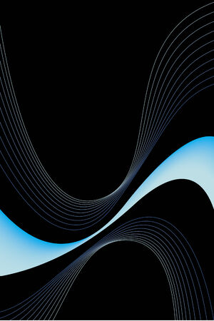 An abstract blue swirls design with plenty of copyspace. This vector image makes a great background for advertising. Vector