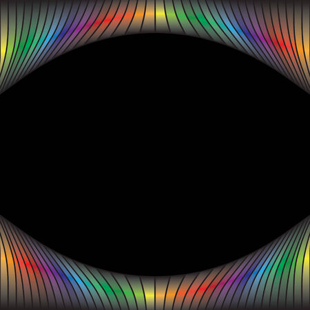 A rainbow colored abstract design border.  This vector is fully customizable. Vector