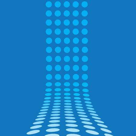 fully: An abstract design template - dots forming a 3d wall.  This vector is fully customizable.