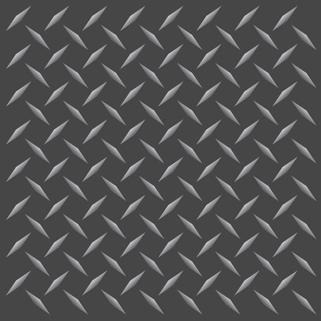 A gunmetal colored diamond plate texture that tiles seamlessly in any direction.  This vector image is easily customized to any other style. Imagens - 3952377