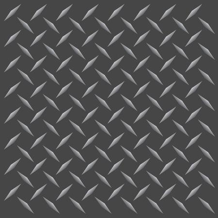 diamante negro: Un diamante de color gunmetal placa de textura que las baldosas sin problemas en cualquier direcci�n. Este vector de imagen es f�cilmente adaptados a cualquier otro estilo.