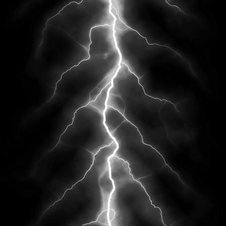 Schrauben der Blitz isoliert über einem schwarzen Hintergrund.