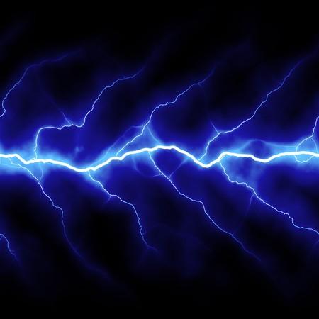 lightning bolt: Bolts of lightning isolated over a black background. Stock Photo