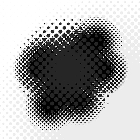 halftone: An abstract halftone badge - an excellent design element.  This vector is full customizable for the color or look you want. Illustration
