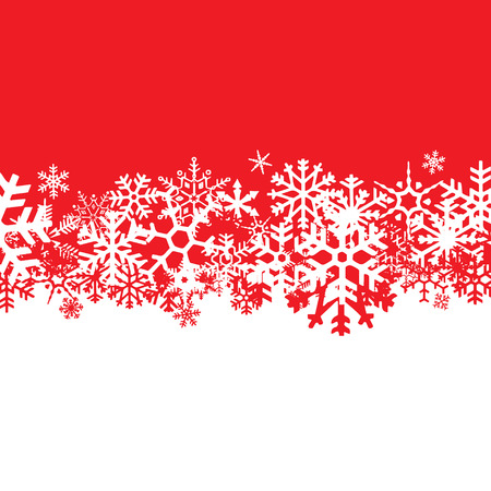 flakes: A snowflakes background texture that can be used as a border or edge on your design.  All of the flakes in this vector are fully movable.