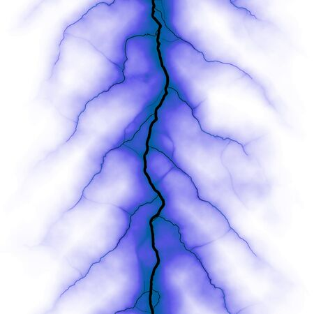 electrifying: Bolts of electricity isolated over a white background.