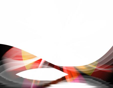 A wavy abstract layout - great for use as a design template or background.