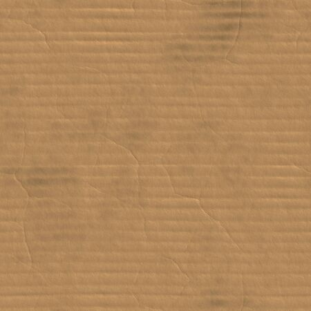 A corrugated cardboard texture with creases and wrinkles in certain spots. Banco de Imagens - 4020727