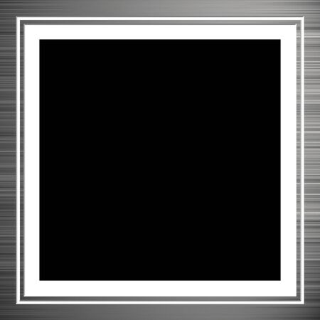 Brushed aluminum photo frame with a white matte. photo