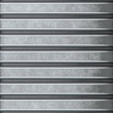 This corrugated metal building material with horizontal ridges makes a great background texture. Stock Photo