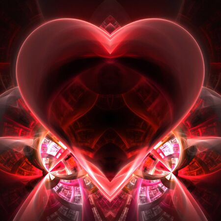 This fractal is shaped like a heart. There is plenty of copyspace for you to add your text or photo. photo