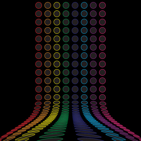 rainbow abstract: A rainbow colored abstract design template.  This vector is fully customizable.