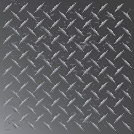 De textuur van een afgewerkt in zwart gekleurde diamant plaat die naadloos tegels in een willekeurige richting. Deze vector afbeelding is gemakkelijk aangepast aan een ander opmaak profiel.