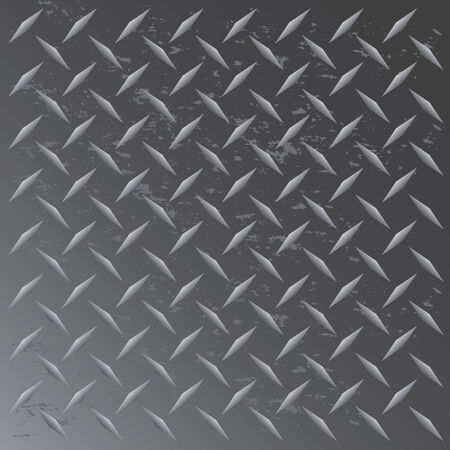 A gunmetal colored diamond plate texture that tiles seamlessly in any direction.  This vector image is easily customized to any other style.