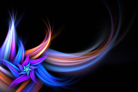 An abstract fractal flower background with plenty of copyspace - add style to any design. photo