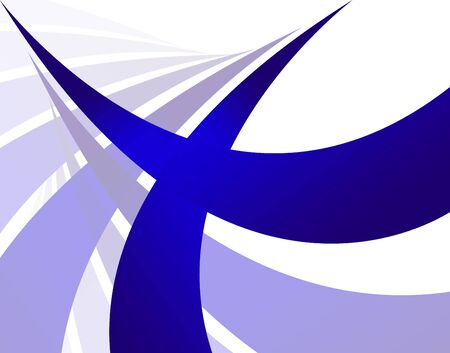 twists: An abstract design template with blue swoosh lines.