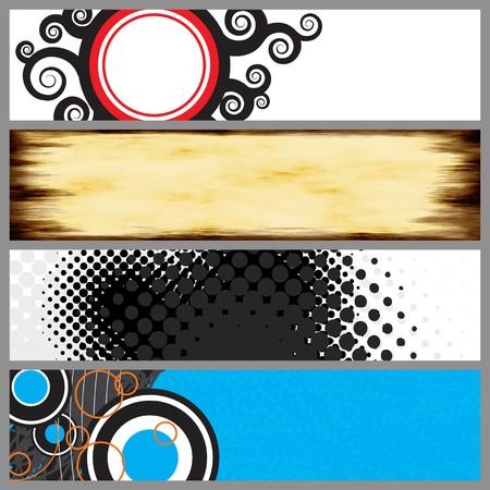 Een verzameling ontwerp sjablonen die prima zijn voor web banners product labels en nog veel meer.