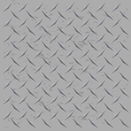 pavimento lucido: Una targa d'argento metallico diamante tessitura che senza soluzione di piastrelle in qualsiasi direzione. Questo vettore immagine � facilmente personalizzate per qualsiasi altro stile.
