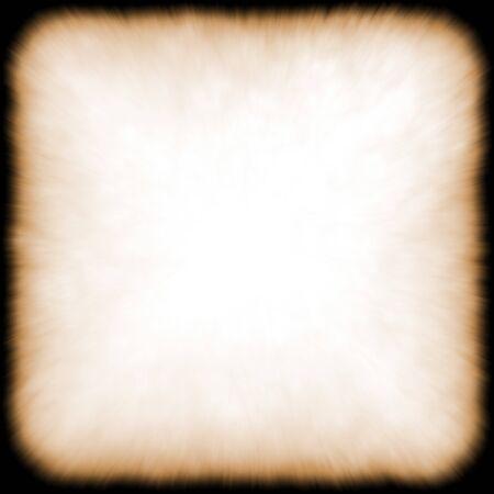 burnt edges: Grunge frame with dark black burnt edges Stock Photo
