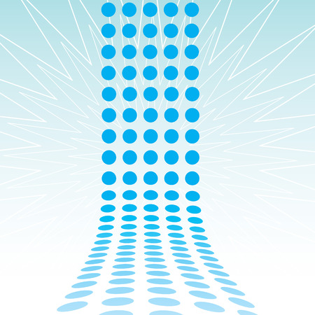 articles: An abstract design template - dots forming a 3d wall.  This vector is fully customizable.