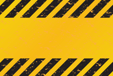 hazard: A grungy and worn hazard stripes texture.  This vector image is fully editable. Illustration