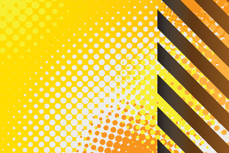 A hazard stripes texture with halftone effects.  This vector image is fully editable.