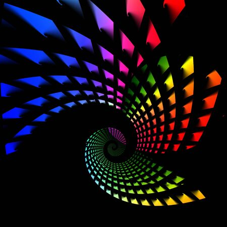 An abstract rainbow colored twirling vortex that makes a great background. photo
