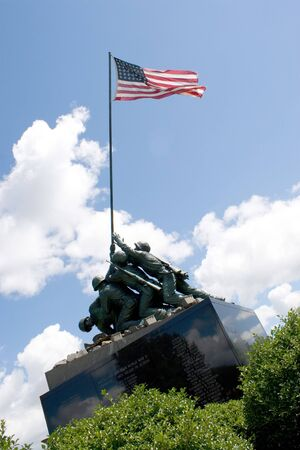 connecticut: Detail of the Iwo Jima Memorial Statue located in New Britain, Connecticut.