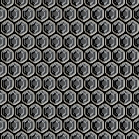 Honeycomb shaped metal grill that tiles seamlessly in any direction. Stock Photo - 4220171