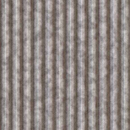 Galvanized staal structuur met groeven die naadloos als een patroon tegels.
