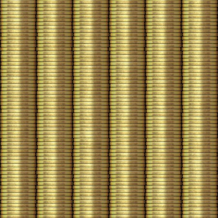 Piled coins texture that tiles seamlessly as a pattern in any direction. photo