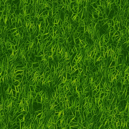 Green grass texture that tiles seamlessly as a pattern. Stock Photo