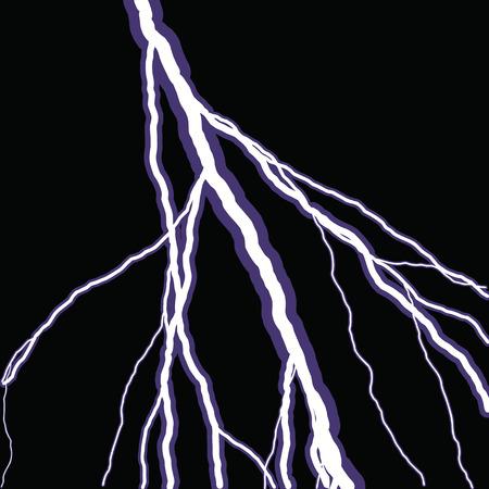 bolt: Bolts of lightning isolated over a black background. Illustration