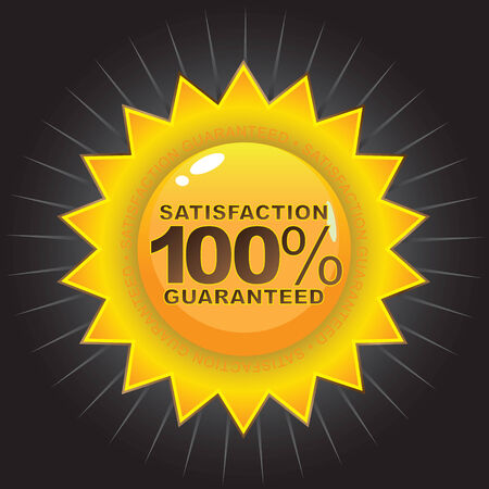A Satisfaction Guaranteed seal that works great on product packaging or on the web. Vector