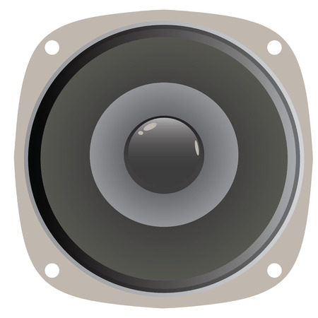 deafening: A generic home or car audio speaker.  This vector is fully editable.