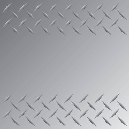 bumped: A silver colored diamond plate layout that tiles seamlessly in any direction.  This vector image is easily customized to any other style.