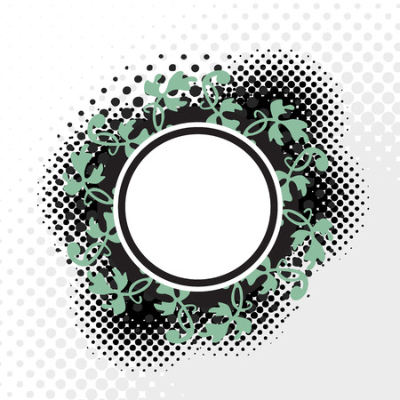 A Celtic halftone badge - an excellent design frame. This vector is full customizable for the color or look you want.