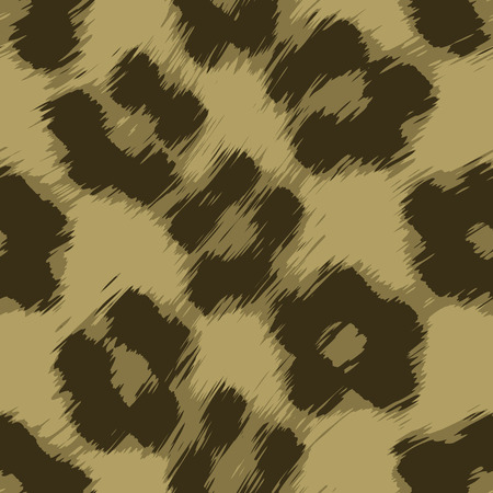 A leopard print texture that tiles seamlessly as a pattern in any direction. Vector