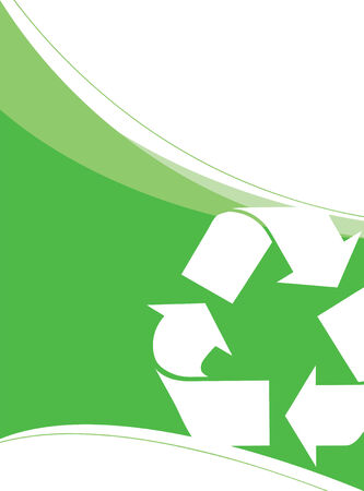 A background layout themed around recycling and environmentalism. Great for going green! Vector