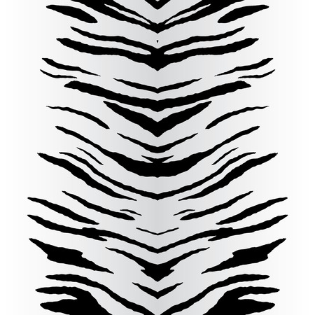 Zebra stripe pattern that tiles seamlessly as a pattern in any direction. Vector