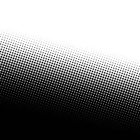 distort: A black and white halftone background with plenty of copy space.