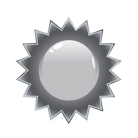 A silver seal that works great on product packaging or on the web. Vector