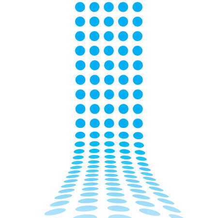 pathway: An abstract design template - dots forming a 3d wall. This makes a great background for advertising. Illustration